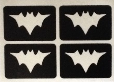 5 SHEETS OF 4 STENCILS - MINI BATMAN